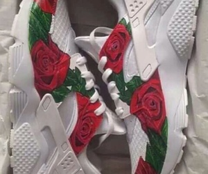 shoes, rose, and nike image