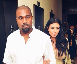 kanye west, kim kardashian, and kimye image