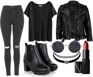 outfit, black, and grunge image