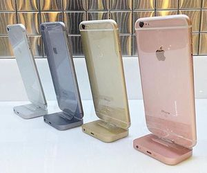 iphone, gold, and rose gold image