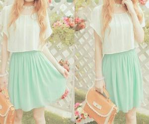 skirt, dress, and white image
