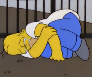 homer, simpsons, and sad image