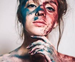 colour and woman image