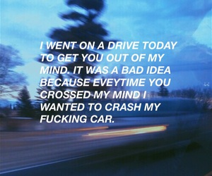 grunge, quote, and car image