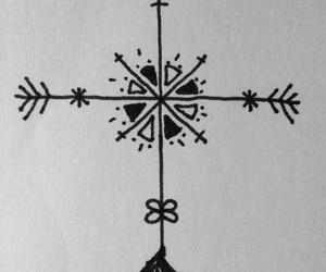 arrow, compass, and drawing image
