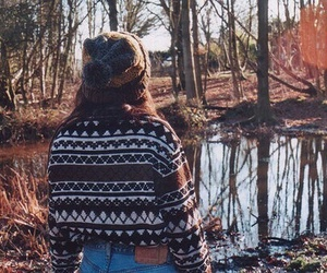 girl, autumn, and sweater image