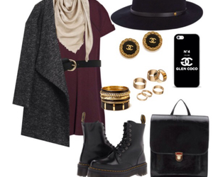 chanel, coat, and dr. martens image