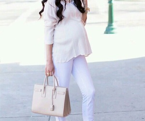baby, bag, and belly image