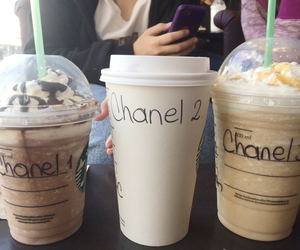 scream queens, chanel, and starbucks image