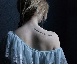 tattoo, girl, and quote image