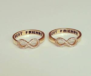 best friends, rings, and friends image
