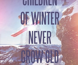 winter, never, and snowboard image