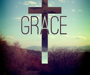 grace, love, and jesus image