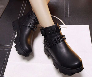 black boots, chunky heels, and wholesale7 image
