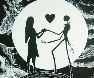 animated, jack and sally, and movie image