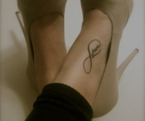tattoo, love, and shoes image