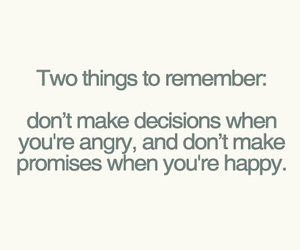 decisions, promise, and remember image