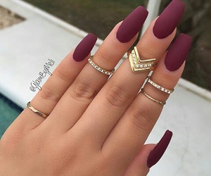 nails, rings, and red image
