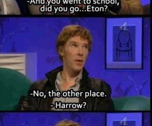hogwarts, benedict cumberbatch, and funny image