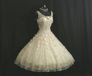 1950s, wedding, and wedding dress image