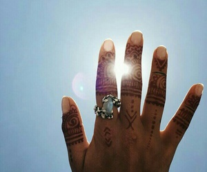 hand, henna, and nails image