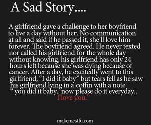 sad, love, and story image