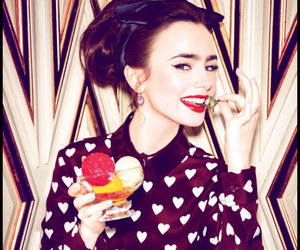 lily collins and glamour image