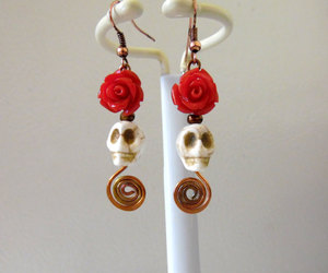 copper, day of the dead, and earrings image