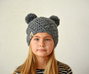 double pom pom hat, etsy, and minnie mouse hat image