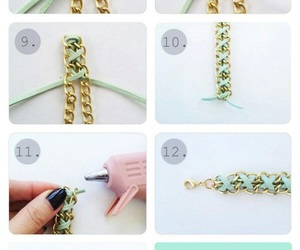 diy, bracelet, and chain image