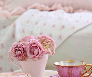 flowers, pink, and shabby chic image