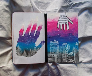art, colorful, and wreck this journal image