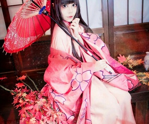 cosplay, Miko, and cosplayer image