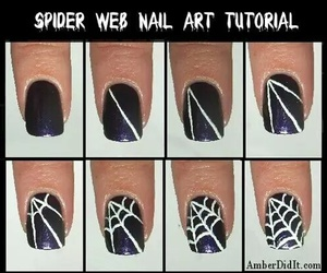 nails, diy, and Halloween image