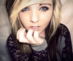 blond hair, blue eyes, and girls image