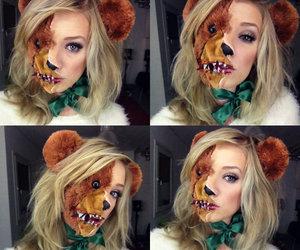 bear, Halloween, and make up image
