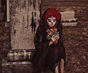 cemetery, tombstone, and dark beauty magazine image
