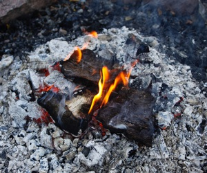 bbq, campfire, and coal image