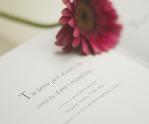 book, flowers, and quote image