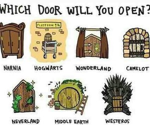 narnia, hogwarts, and neverland image