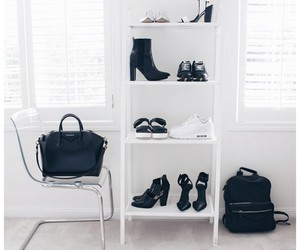 white, black, and shoes image