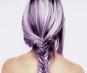 grey hair, pastel, and purple image