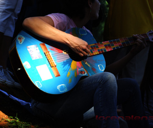 2008, acoustic guitar, and blue image