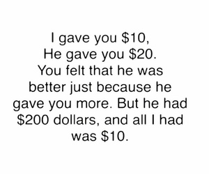 quotes, money, and true image