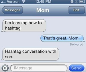 mom, funny, and message image