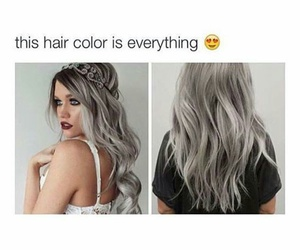 hair, grey, and color image