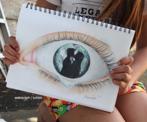 eye, drawing, and quality image