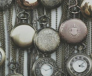 vintage, watch, and clock image