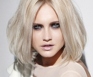 hairstyle, make up, and white hair image