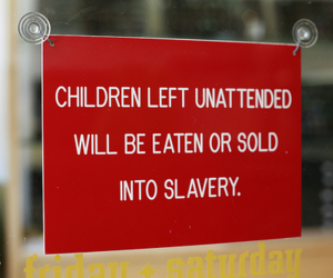 child, funny, and sign image